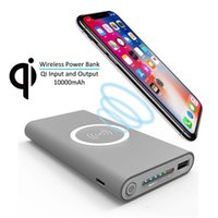 Wireless Qi Charger 10000mAh Power Bank Fast Charging Adapte...