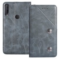 YLYH TPU Silicone Protective Retro Flip Genuine Leather Rubber Gel Cover Phone Case For Alcatel 3X 1V 3L 2020 Pouch Shell Wallet Etui Skin