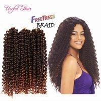H Sooft 2 -3lot Pacotes Cabelo uma cabeça Freetress Synthetic tranças Preloop Crochet extensões do cabelo brasileiro Pré Looped Savana Jer