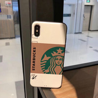 YunRT Street Pop Amerikanisches Kaffee-Paar All-Inclusive-Etui für iPhone 6 6Plus 7 7plus 8 8Plus X Handyhüllen