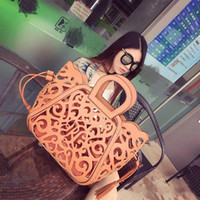 Fashion Casual Women's Handbag New Cutout Carved Handbag Shoulder Bag Girls Hollow Package Tassel Bag