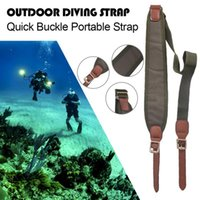 Sangle de plongée en plein air Quick Buckle Sangle Portable Sling Widen épaule Pad Longueur réglable