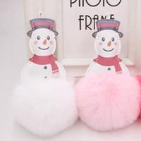Новый творческий красный шарф Снеговик плюшевые брелок искусственная кожа Рождество Снеговик волос мяч дизайнер брелок брелок сумка кулон лучший друг подарки
