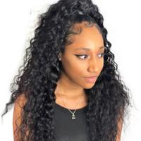 Перуанские глубокие вьющиеся волосы 360 полный парик фронта шнурка естественный цвет необработанный парик человеческих волос для женщин