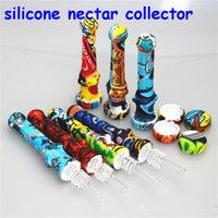 Kits de coletor de néctar de silicone de fumar com dicas de quartzo chupar na boca 14mm para bongos de água de vidro