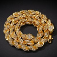Mens hiphop Iced out gioielli in oro rosa argento twist catena hip hop collana diamante bling catene collane
