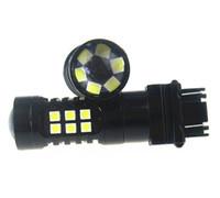 10 Piezas Blanco Natural 3157 LED Estroboscópico Intermitente Luz de Cola de Freno Bombillas de Advertencia de Seguridad 30 3030LED Color Blanco DC 10V-30V