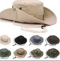 Geniş Brim kovboy şapkaları Katlanır Şapka Balıkçılık Golf Şapka Güneş Kova Boonie Şapka Moda Kepçe parti Şapkalar KKA7963