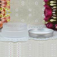 50g Frosted leere runde Kosmetikcreme PET-Gefäße, 1,75 oz klare Sahnebehälter für Kosmetikverpackungen, 50g leere Plastikflaschen