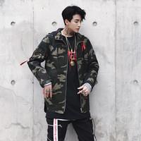 2019 Nouvelle Irrégulière Lettre X Manteau À Manches Longues Vestes Rouge Jaune Hommes Coupe-Vent Vestes À Capuche Manteaux Pour Hommes Hip -Hop Hommes '; S Vestes