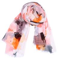 Mode neue Ombre Blumendruck Pailletten Schals Schals 2019 lange modische Blume Fringe Wrap Schal Hijab Schalldämpfer 4 Farbe heißer Verkauf versandkostenfrei