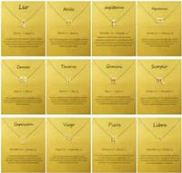 Ожерелье Dogeared с картой Позолоченный кулон «Знак зодиака», Лев / Овен / Дева Благородный и нежный чокер на День Святого Валентина, рождественские подарки