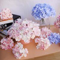 10pcs / lot Colorful Flower Decorative capo seta artificiale Ortensia fai da te casa festa di nozze arco background decorativo della parete Fiore XD22475