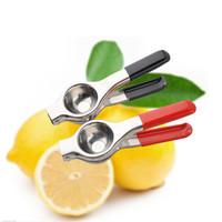 Casa Essencial Utensílios de Cozinha 304 Aço Inoxidável Antiderrapante Punho De Plástico Manual Limão Juicer Prático Clipe De Limão