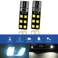10 قطعة / الوحدة 12 فولت T10 12-SMD LED Canbus خطأ الحرة سيارة الصمام ضوء لمبة 6000K W5W 194 168 2835