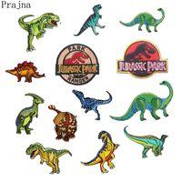 Dinossauro Prajna S1 Parque Jurássico Remendo Bordado Adesivos De Engomar Patches Para Roupas de Ferro Em Remendos Filmes Parches Anime