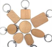 تخصيص طيف فارغة خشبية الحلي شخصية منقوش سلسلة المفاتيح نحت DIY مستطيل ساحة جولة شكل قلب k0819