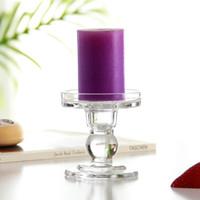 Supporto di candela di vetro trasparente romantico di cristallo Candeliere Tealight cerimonia nuziale del supporto centrotavola casa Ornamento GGA2851-1