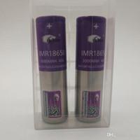 100% die höchste Qualität IMR 18650 Batterie 3000mAh 3.7V 40A 18650 Batterien wieder aufladbare Lithium-Batterien Fedex UPS geben Verschiffen frei
