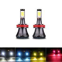 2X automobile DRL lampadina lampade LED 30W H8 H9 H11 H27 881 880 HB3 9005 HB4 9006 Fog Driving Bianco Golden Blue Dual Color 12V