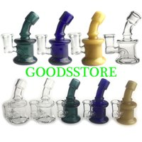 New 3. 5 Inch Mini Glass Bong Water Pipes with Colorful Green...
