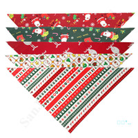 Lovely Christmas Pet Cotton Scarf Neckerchief Apparel Christ...