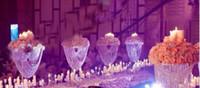 Новая высота стиля Акриловых канделябры с хрустальными подвесками свадебного подсвечника центрального украшения партии best0090
