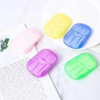Papel de jabón en caja desechable Portátil de aromaterapia de lavado a mano Travel Mini caja de jabón anti bacteriano Hoja de jabón Accesorios de baño