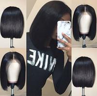 Neue Bob Lace Front Human Hair Perücken mit Babyhaaren Prepucked Brazilian Remy Hair Natürliche Haaransicht Gerade kurze Bob Perücke Für Schwarze Frauen