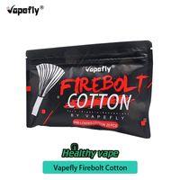 100% original vapefly firebolt bio baumwolle für diy spule 20 / pack gebäude elektronische zigarette ersatzteil für diy rda rba rta