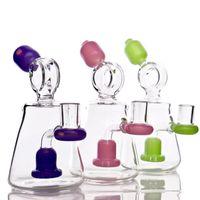 7''glass dab rig taille de joint 14.5mm bang en verre intéressant plate-forme pétrolière avec douche perc mini-barboteur