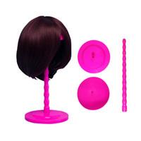 Mantar Üst Katlanır Plastik Peruk Saç Şapka Kap Tutucu Standı Ekran Aracı Peruk Kurutma 3 Renkler