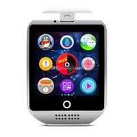 Q18 orologi intelligenti per i telefoni Android bluetooth smartwatches con fotocamera supporto Q19 originale tf slot per schede sottile del bluetooth di connessione NFC