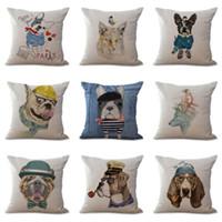 Moda Inicio Sala de algodón de lino Throw Asiento perro Animales Sofá Cojín de la cintura de la decoración
