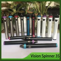 100% Vision Spinner III IIIS 1600mAh Spinner 3 3S Batteria a tensione variabile Top Twist Vs ESMA-T Ola X Batteria VV DHL Free 0266151