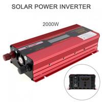 Freeshipping 2000 Watt 12 V 24 V zu AC 220 V 110 V Aluminiumlegierung Fall Solar Power Auto Inverter mit LCD Display Converter