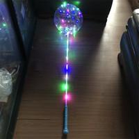 LED Luminosa LEVOU Bobo Balão Piscando Luz Transparente Balões 3 M Luzes Da Corda com Aperto de Mão Festa de Natal Decorações de Casamento Quente