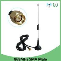 868 900-1800 Лор Антенна 3G 5DBI SMA Мужской с кабелем 300 см 868 915 IOT Antena Sucker Antenne Базовые магнитные антенны