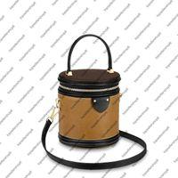 M43986 M55457 Cannes Bolsa Mulheres Designer Natural Cowhide Couro S-Lock Clasp Canvas Bucket De Cabelo Bolsa de Mensageiro Cross-Body