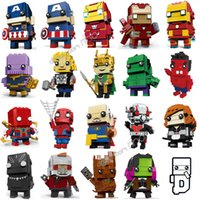 Marvel Avengers Blocs de construction Iron Man Capitaine Thanos Thor Hulk Spider-Man Loki Ant-Man Star-Lord Grand-Mere Chiffres Blocs de Construction Jouets