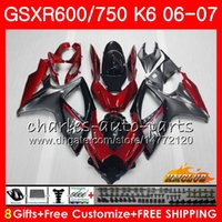 Body For SUZUKI GSX R600 GSX- R750 GSXR- 600 Dark red stock GS...