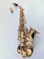 2010 NEW YANAGISAWA curvo Sassofono Soprano S-992 Gold Key ottone Sax professionali Bocchino Patches Pad Ance Bend collo