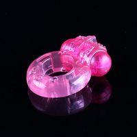 En gros papillon extensible Silicone Vibrant Cock Ring Anneaux Pénis pour Couple Adult Sex Toys pour Homme Erotique Sex Products