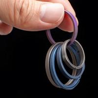 20 26mm EDC Outils ronde Keychain Porte en forme de poche en métal taille Hanging Porte-clés pour l'extérieur Gadgets 9ba E1