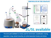 5L Lab Ölçeği Küçük Kısa Yol Distilasyon Ekipmanları 5L Kısa Yol Distilasyonu Kriyojenik Ve Vakum Pompaları Ekipmanları İçeriyor