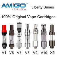 100% Authentic Amigo Tank Empty Vape Cartridges Liberty V1 V...