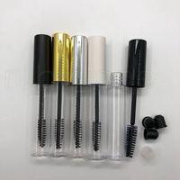 10ml Mascara-Röhrchen-Packflaschen bilden leere Rohr-Kunststoff-transparente tragbare Mascara-Tube mit Wimpernstab-Bürste Rra1884