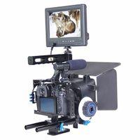 マットボックスが付いているFreeshippingハンドルビデオカメラの安定剤キットPanasonic Lumix DMC-GH4ソニーA7SII