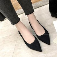 Eoeodoit Mode respirant Stretch Pompes Pointu Toe Med Chunky Talons Pompes Slip On Sexy V Bouche Femmes Casual Bureau Dame Chaussures Y190706