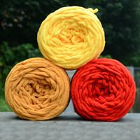 Soft de bonne qualité 100g tricoter chunky chunky boule de laine boule de laine skein foulard fil pure couleur mignon # 80465